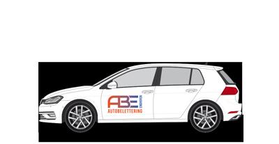 Autobelettering voor personenauto
