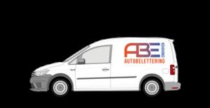 Autobelettering voor bestelwagen