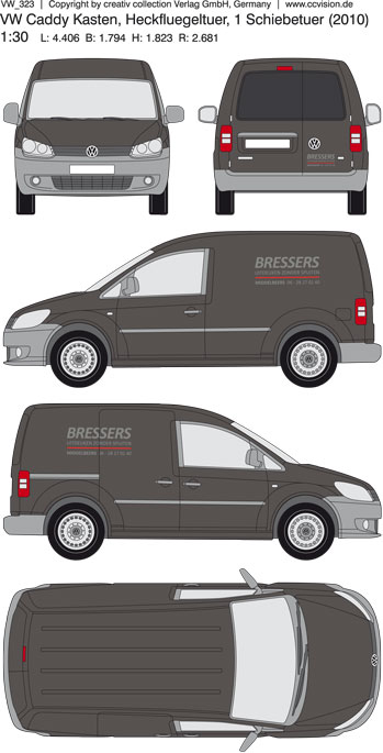 Bressers Caddy Belettering