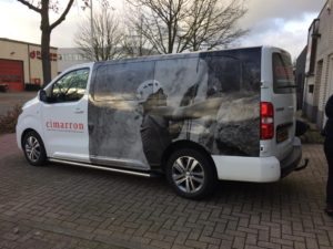 Cimarron Peugot Expert Autobelettering Eindhoven