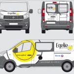 Busbelettering Egelie Fiat Talento