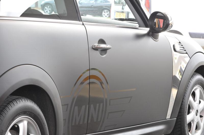 Carwrap mini mat met glans logo