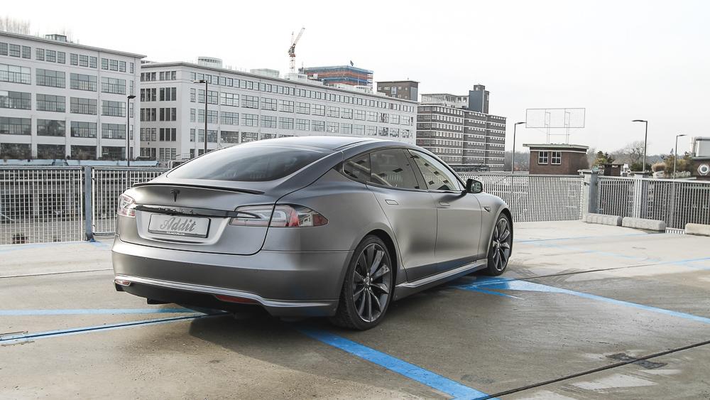 Tesla Carwrap 3M Satin Grey 9