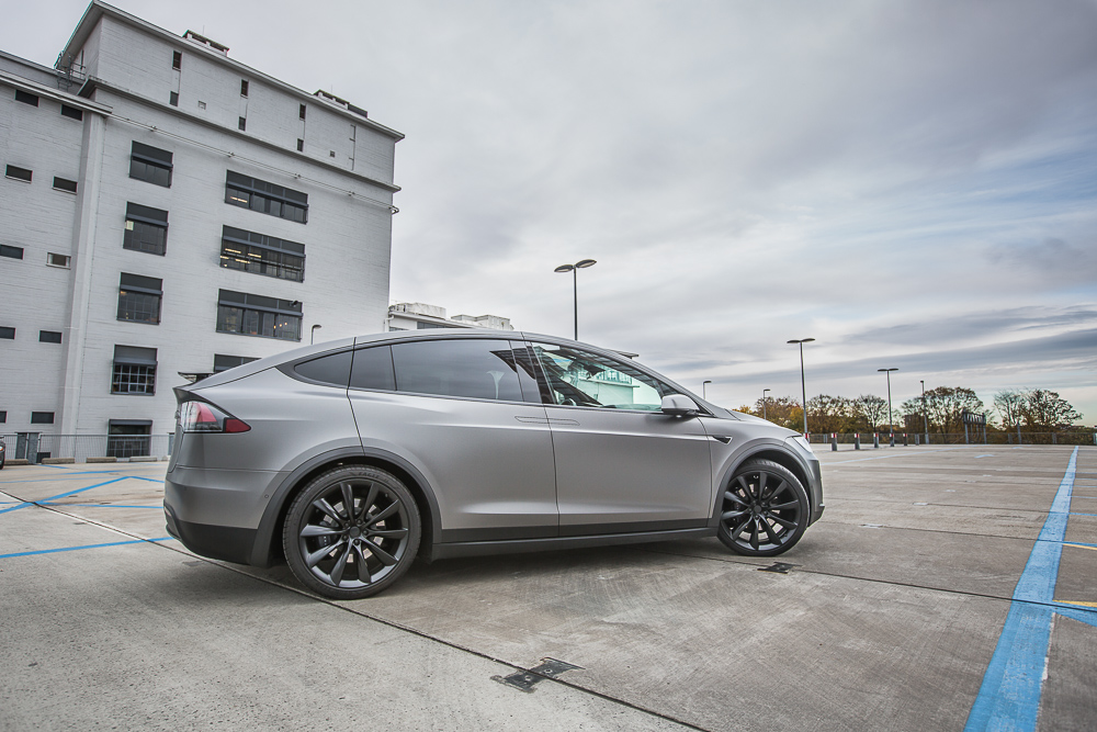 Tesla Carwrap Satin Dark Grey 2