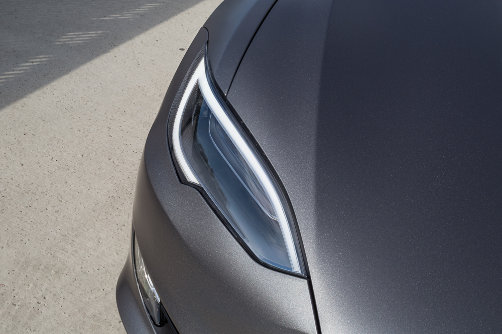 Tesla Carwrap Satin Grey 5