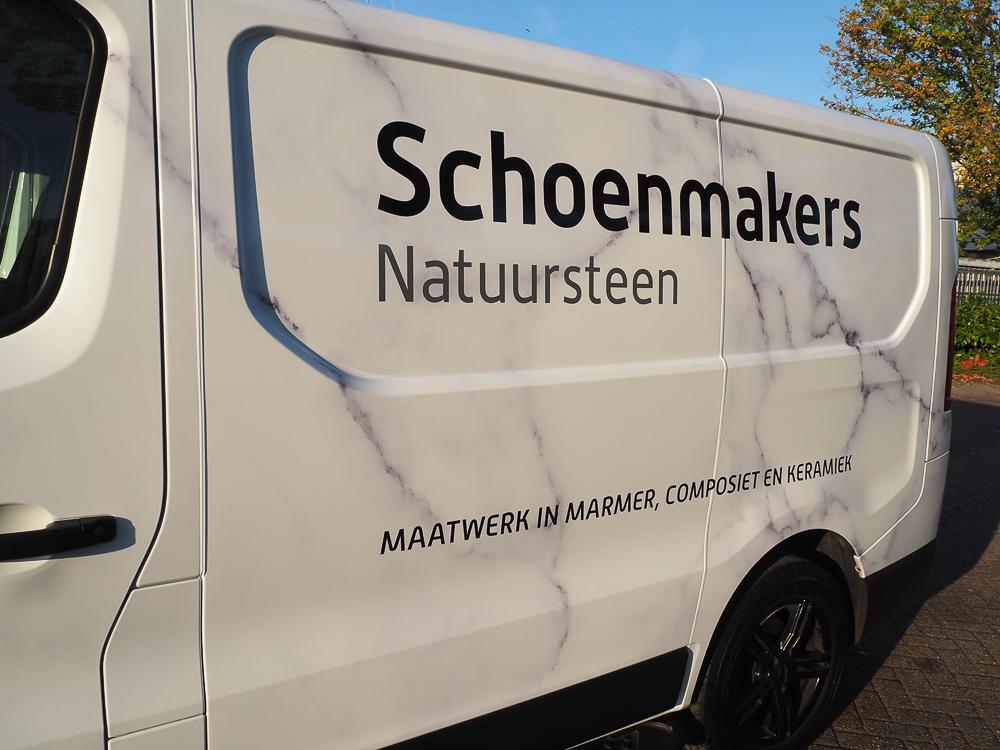 marmer car wrap door Autobelettering-Eindhoven