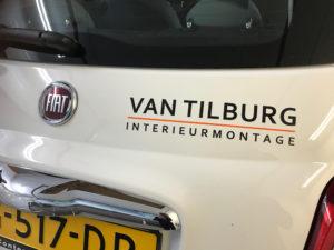 Logo op achterzijde Fiat 500
